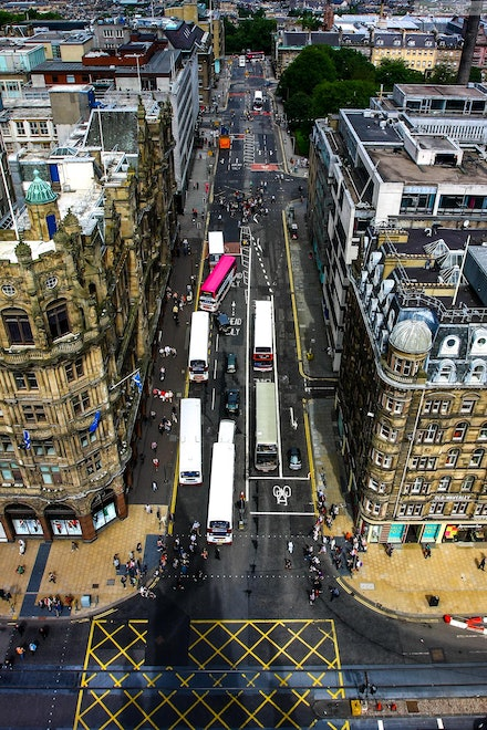 View from Top of Sir Walter Scott Monument, Edinburgh - I was fortunate enough to be selected in an ADF contingent to perform at the 2012 Royal Edinburgh...