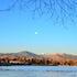 011814 Ducks Sunrise and full moon
