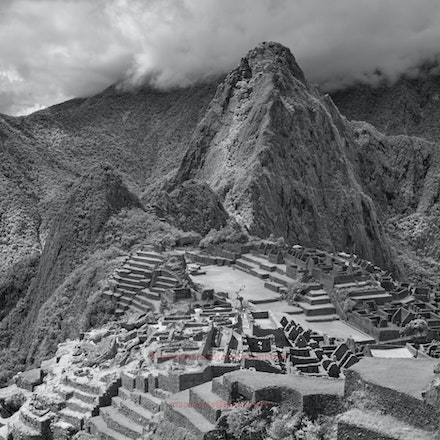 Macchu Picchu vista - Machu Picchu viewed in infrared.