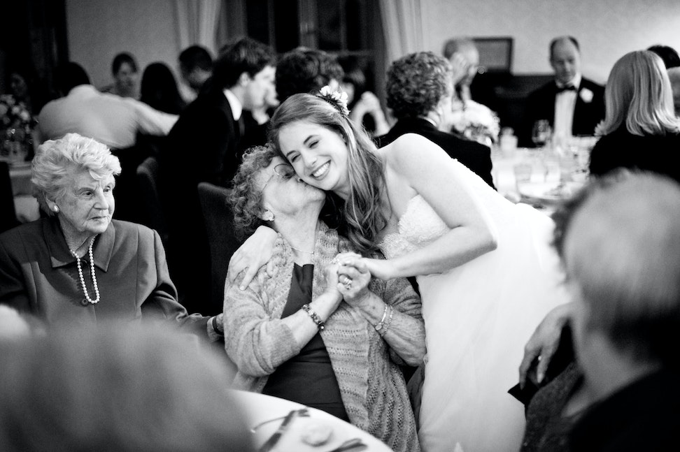 014 | Candid moment of a bride being congratulated by her grandmother - Copyright © 2015 Melissa Fiene Photography. All rights reserved. All images created...