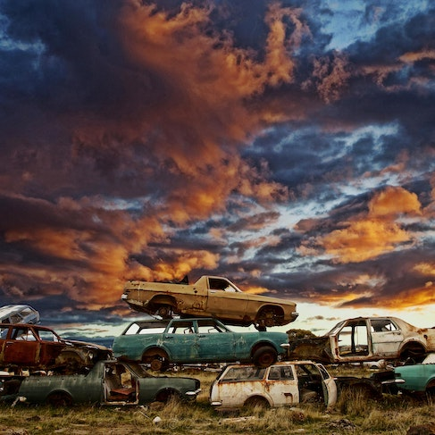 Automobile Apocalypse - Each archival photograph is stamped and signed by Robert and a brief description of how it was taken.