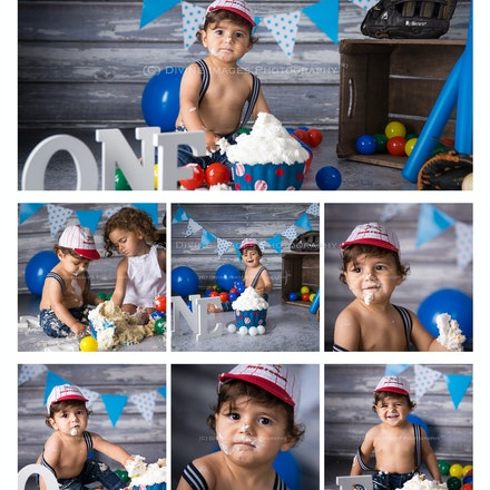 Nathaniel cake smash preview collage