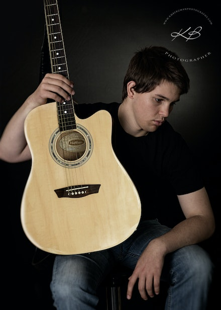 Guitar-man - Studio portrait session in our Waterford Studio.