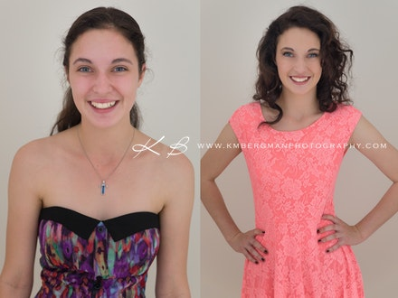 Before-and-after - Before and After from Talitha's teen glamour portrait session in our Edens Landing, Logan City studio.