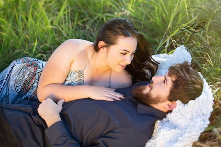 Location Engagement Portraits - Couples portraits, celebrating engagement, with Logan City Photographer Kerry Bergman.  Image captured at Waterford, Qld.