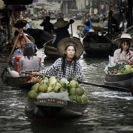 Floating Markets - near Bangkok Thailand - The Floating Markets of Thailand - not too far from Bangkok