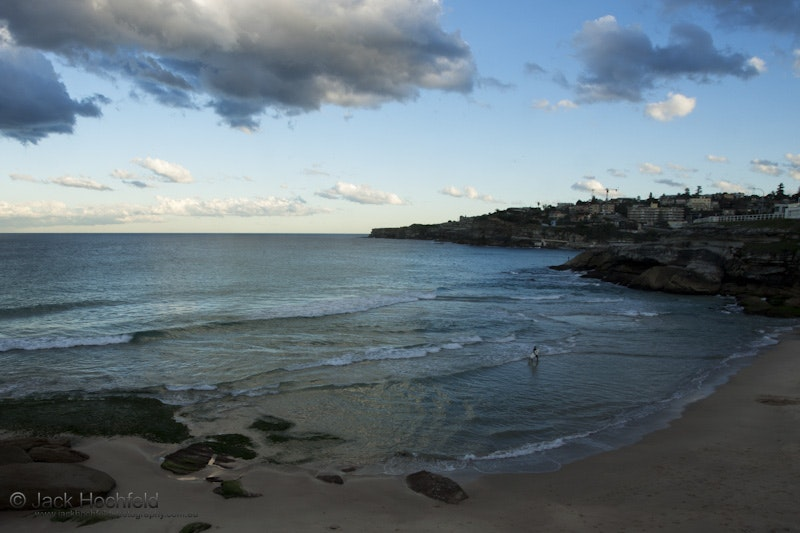 End of the day, Tamarama, Australia - The last of the surfers to emerge from the sea before the sun finally disappears from the sky.