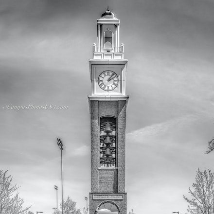 Pulley Tower, Miami University/Black and White Photo_2430_1884_18171_2 - Image by Campus Photos USA.  The Pulley Tower, located on the college campus of...