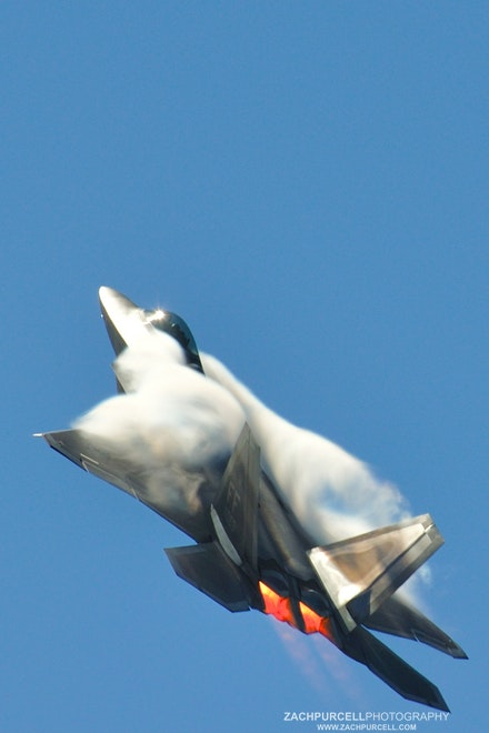 Raptor Smoke - Location: Kaneohe Marine Base Date: September 2010  Time: 2:14 PM  ISO: 200  Shutter Speed: 1/200 sec.  Aperture: 13  Focal Length:...