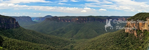 Grose Valley - This is a Panorama of the famous Grose Valley taken from Govett's Lookout, Blackheath
