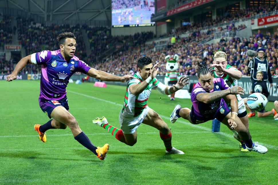 NRL 2015-29 - Mahe Fonua (Melbourne Storm) Digital Image by Ian Knight © nrlphotos.com: NRL, Rugby League, Round 10, Melbourne Storm v South Sydney Rabbitohs...
