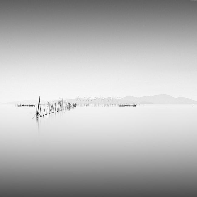Sticks. - The beautiful Lake Biwa in shiga Prefecture, Japan.