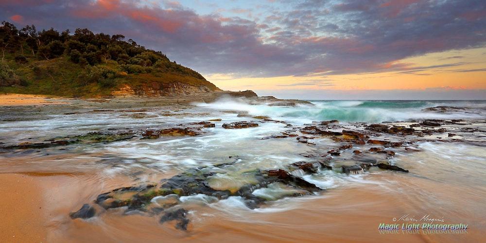 Spoon Bay Sunset 09 Feb 2016 IMG_2494 1500 panorama COVER