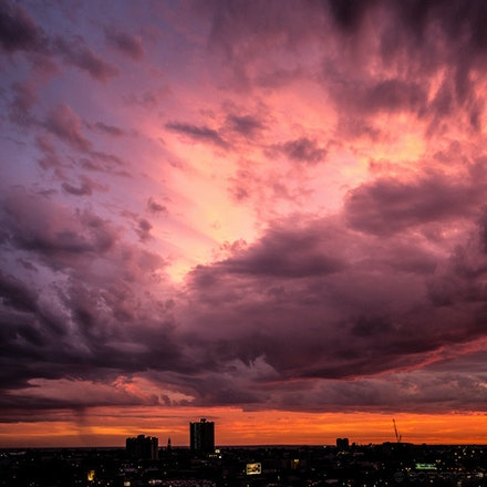 Big Red Sky - Big red sky over South Melbourne