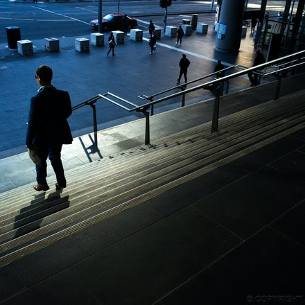 Winter Light at Southern Cross Station - Early morning winter light at Southern Cross train station in Melbourne