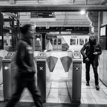 Guy Exiting Flinders Street Station