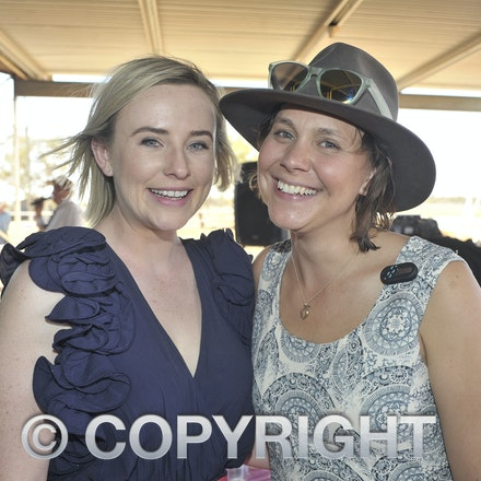 151003_SR22247 - Karly Scott and Aleena Williams at the Jundah Cup day races, Saturday October 3, 2015.  sr/Photo by Sam Rutherford