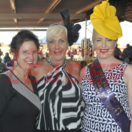 151003_SR22264 - Kerri Pidgeon, Annette McBride and Grace Loyden at the Jundah Cup day races, Saturday October 3, 2015.  sr/Photo by Sam Rutherford