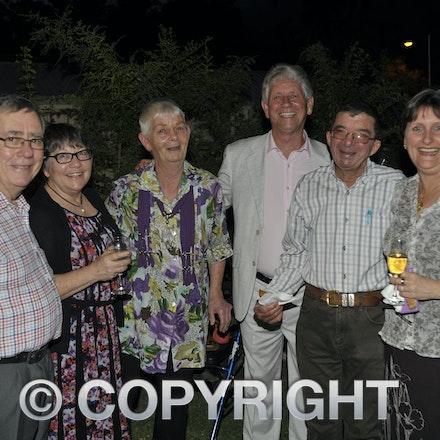 151031_SR23869 - Allan abbott Robyn Abbott, Alison Scott, Jeff powis, Scotty, Petra milaudi at the Rotary function held qat the Jumbuck Motel, Longreadch,...