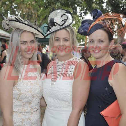 160430_SR25431 - Nickola Dickson, Taylah Brackin and Amy Miller at the Tree of Knowledge Cup Race day in Barcaldine, Saturday April 30, 2016.  sr/Photo...