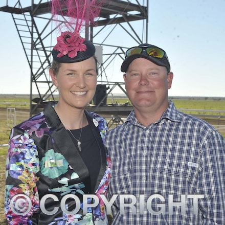 160709_SR22524 - Katherine Bowler and Craig Ross at the Ilfracombe Races, Saturday July 9, 2016.  sr/Photo by Sam Rutherford