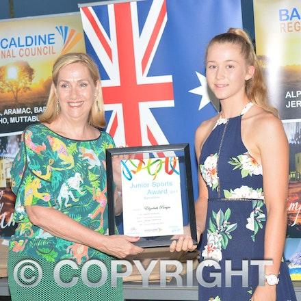 170126_DSC_7893 - Barcaldine Junior Sports Award: Elizabeth Pumpa.