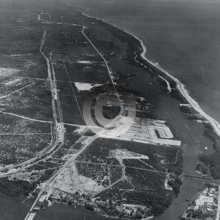 JUPITER TEQUESTA 1957A - Looking north with Katos Bridge.