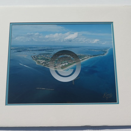 SAILFISH  POINT 2003 - This 11 x 14 aerial is vacuum mounted with double mats and shrink wrapped.  Ready for a 16 x 20 frame!