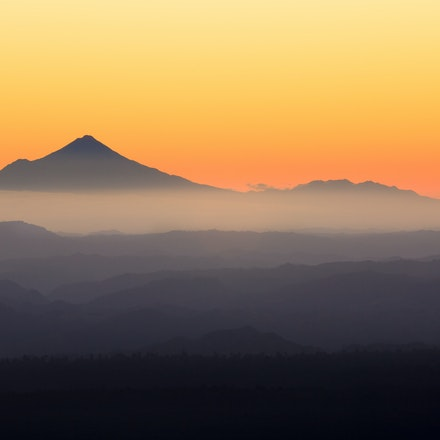 Mountain Sunset - Mt Taranaki as seen at sunset from Mt Ruapehu